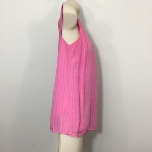 Lilly Pulitzer Tops - Lilly Pulitzer Pink Sleeveless blouse Ruffle Sz 4